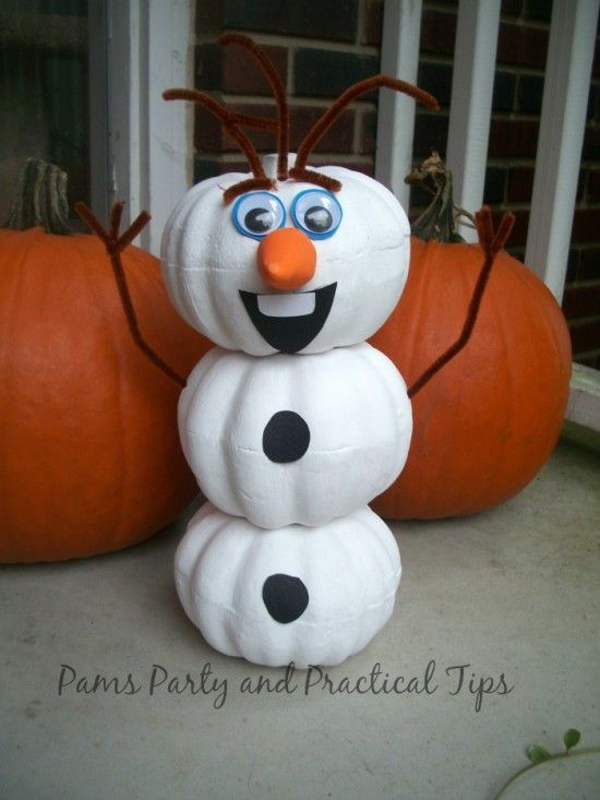 Olaf Pumpkin ideal for your Halloween Celebrations