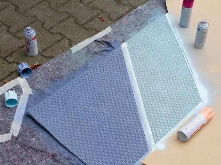 DIY-Anleitung: Teppich-Makeover: Chevron-Muster via DaWanda.com