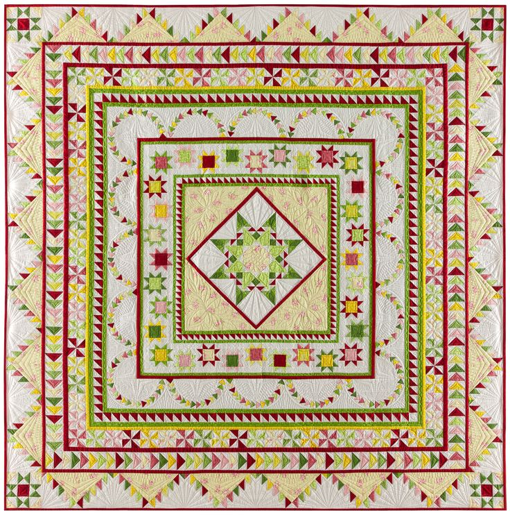 "Introducing the ""Halo Medallion Quilt"" - The 2017 TQS BOM from Sue Garman FREE for Star Members - TheQuiltShow.com"