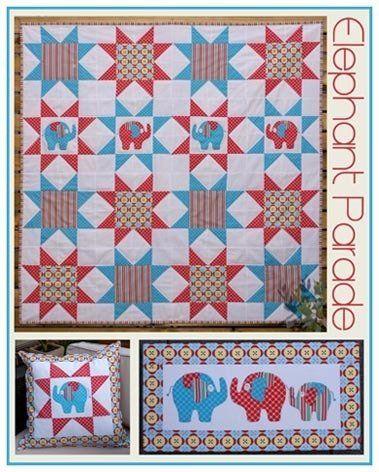"""Elephant Parade"" designed by Melanie Hurlston for Sew Little."