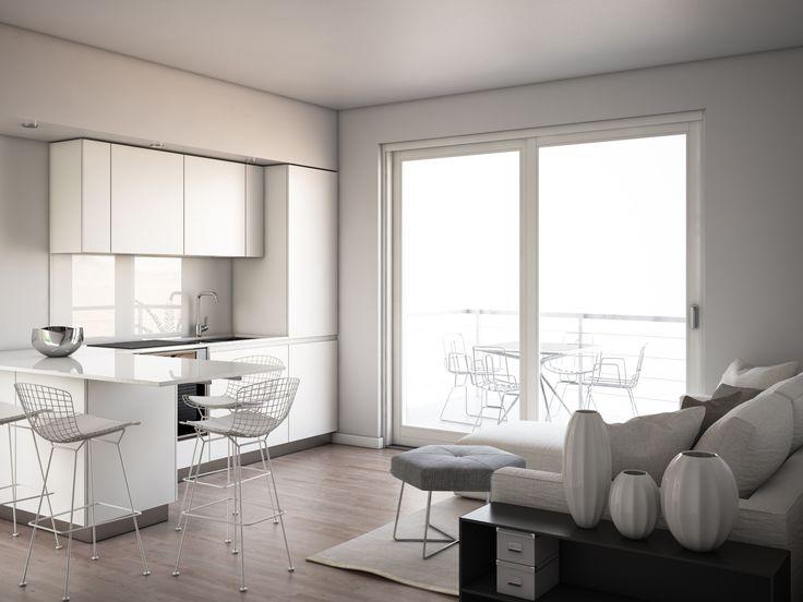 render build-design cucina salotto