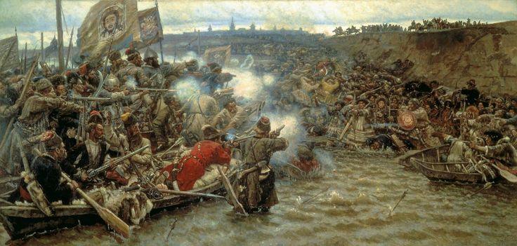"""Vasili Súrikov, """"Покорение Сибири Ермаком"""" 1895"""
