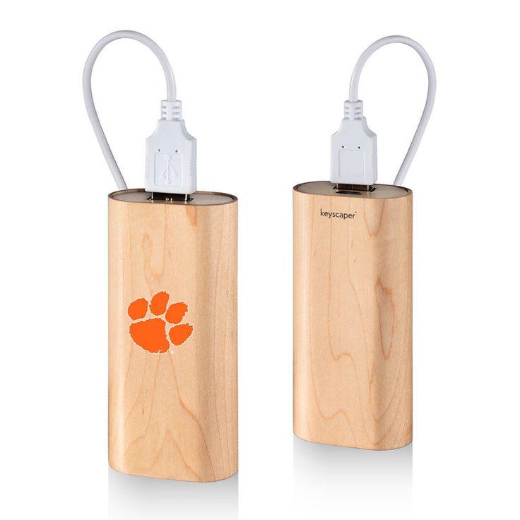 Clemson Tigers 4000mAh Wood Power Bank