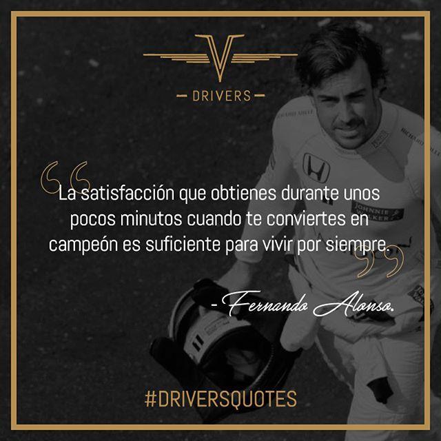 Por su talento Fernando Alonso es un piloto que no requiere de presentación alguna. Hoy lo tenemos en #DriversQuotes.    #Drivers #DriversChile #Cars #Quotes #Fórmula1 #F1 #CarLovers #Miniaturas #AutosAEscala #Herramientas #Limpieza & #Detailing #Santiago #Chile