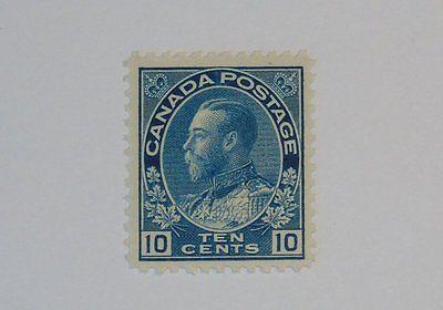 Stamp Pickers Canada 1911-25 KGV Admiral 10c Scott #117 MNH VF $160+