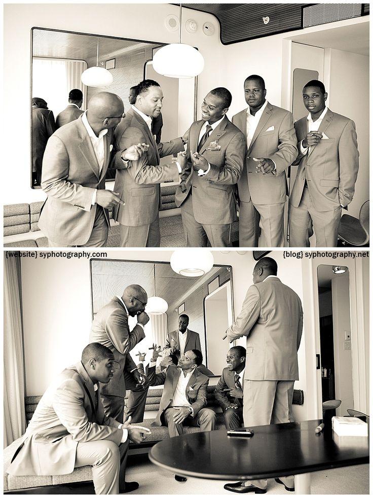 wedding groom and the groom'smen