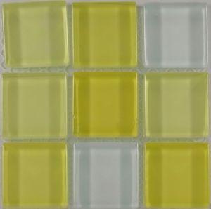 Product ID:OPUS4 Miki 1X1 Glass Blend Lemon Zest Mosaic #Profiletile