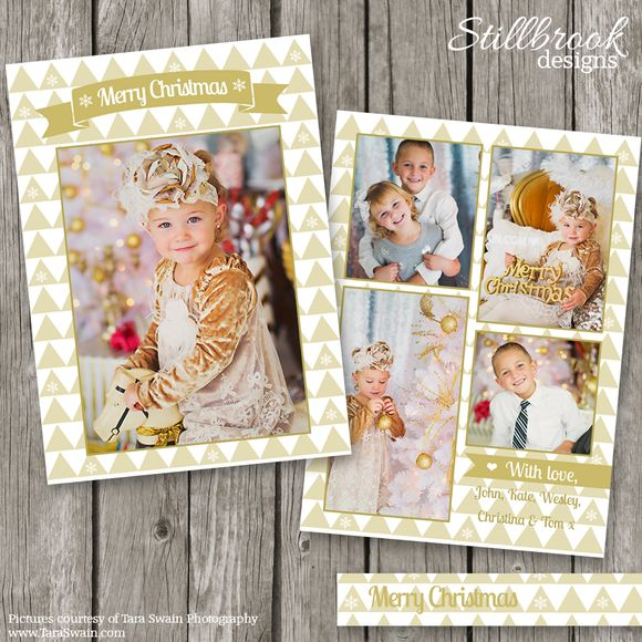 2014 Christmas Card Template by Stillbrook Designs on Creative Market