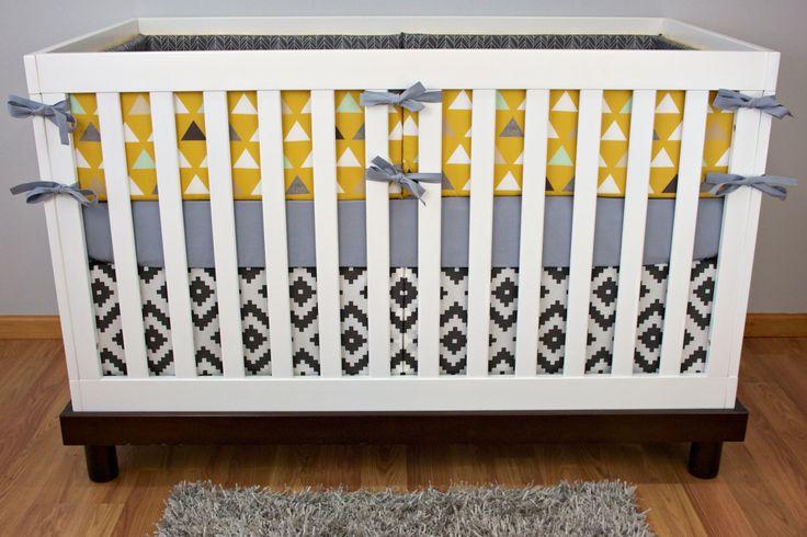 Tribal in Mustard Crib Bedding | Modified Tot