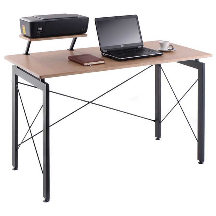 Computer Desk PC Laptop Table w/ Printer Shelf Home Office Workstation Study New #ad