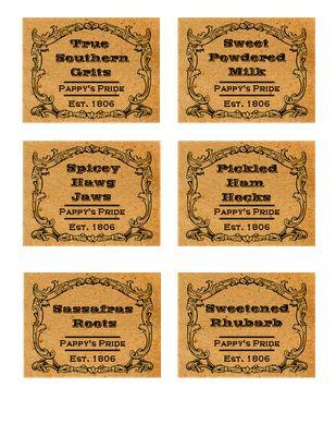 printable prim labels from primitive pantry