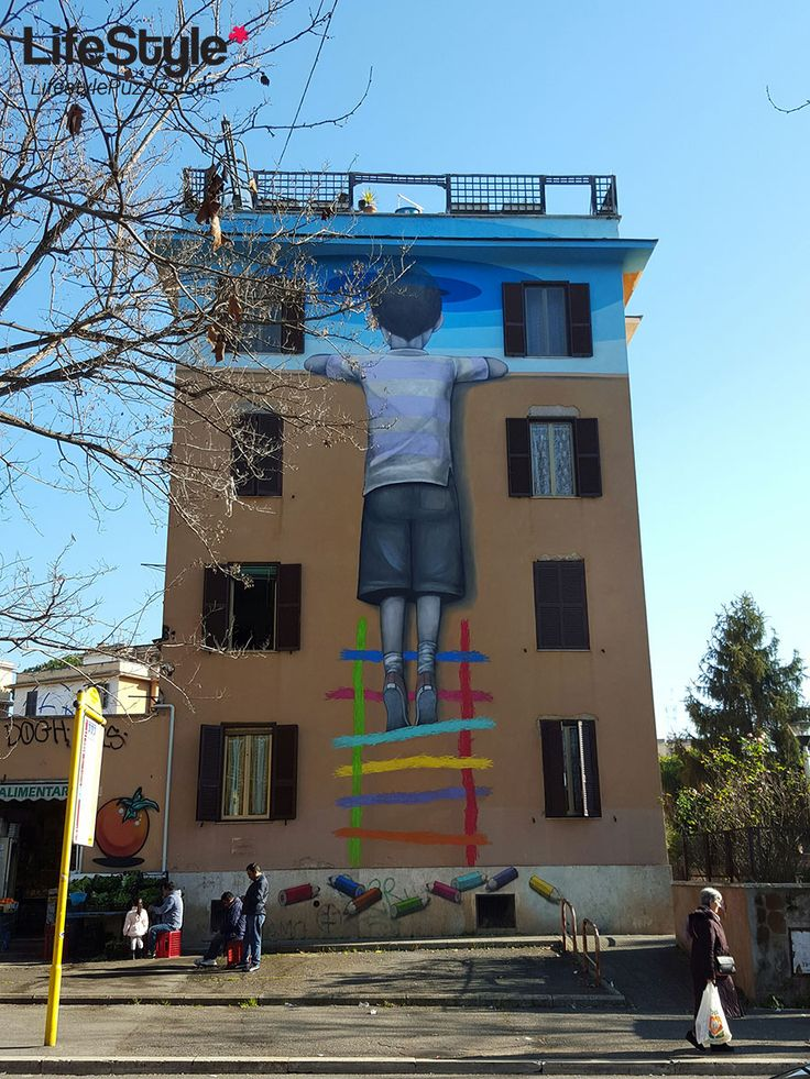 Amazing Street Art Project in Rome - The 20 Awesome Walls in Tor Marancia #streetart #rome #art