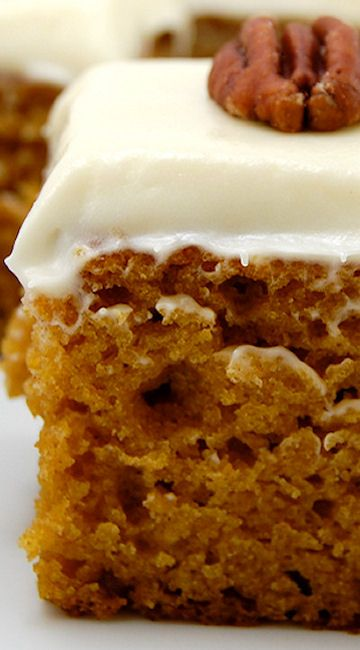 #Pumpkin Bars with Cream Cheese Frosting #Recipe