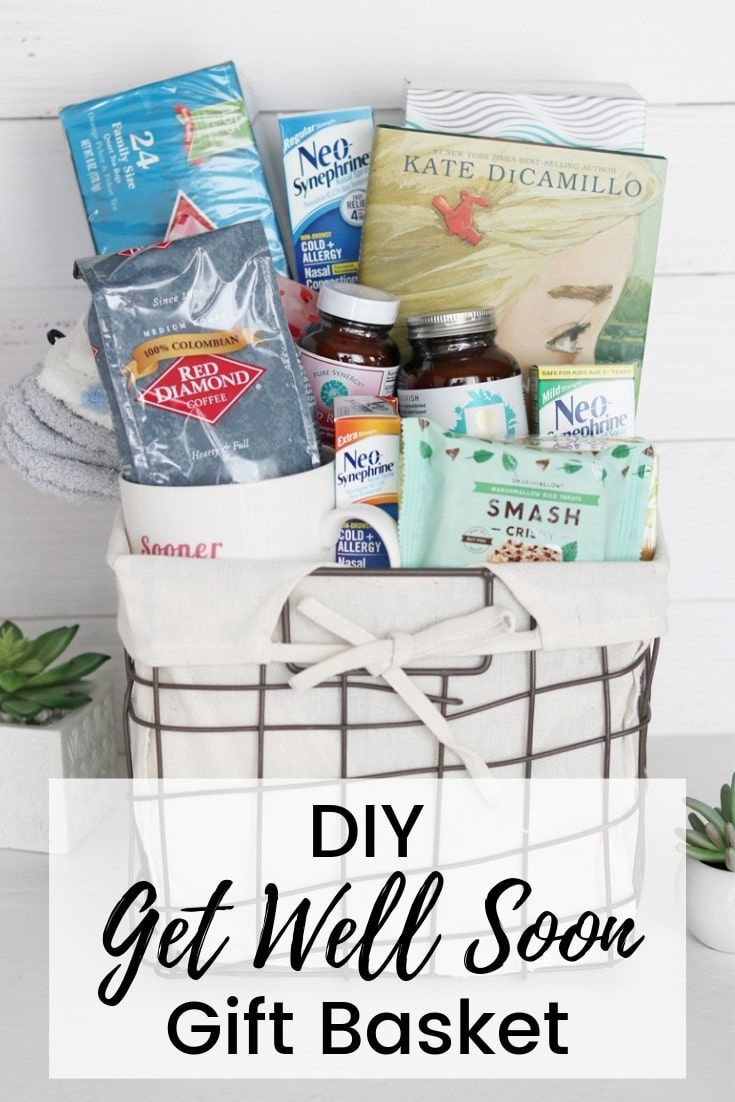 Ad Make A Get Well Soon Gift Basket Or Care Package For A Sick Family Member Or Friend With These Get Get Well Soon Gifts Get Well Gifts Get Well Gift