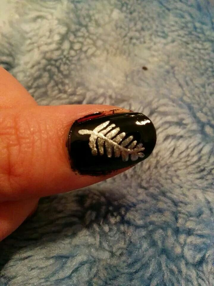 Silver fern for all blacks game.....should've tidied it up before the photo!