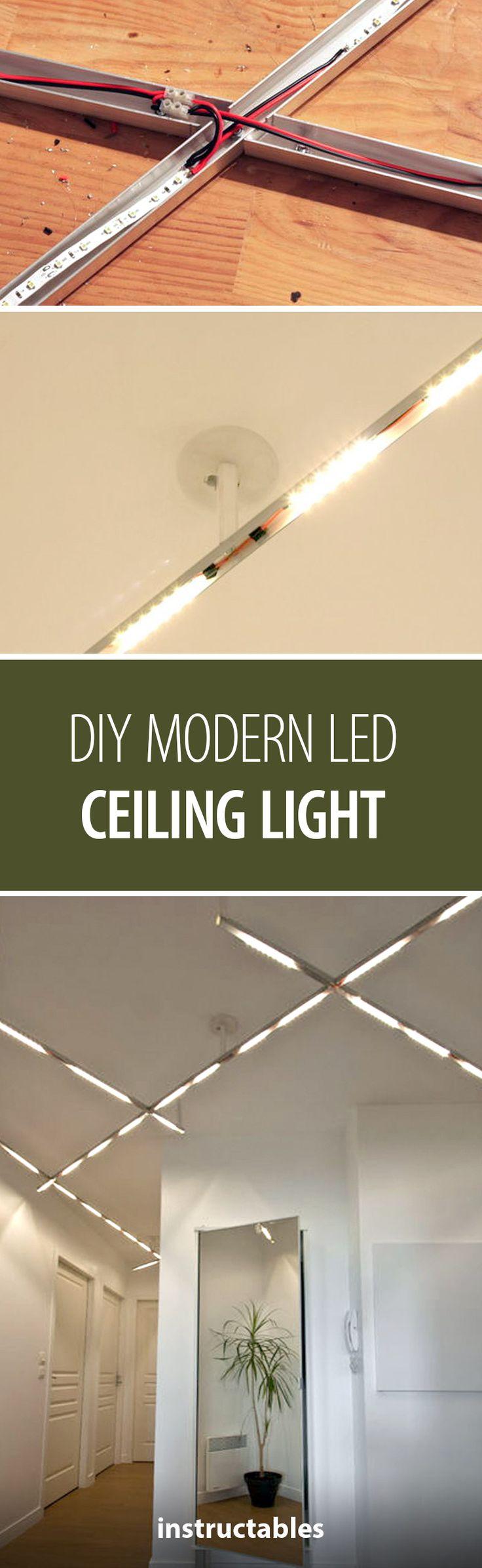 DIY Modern LED Ceiling Light