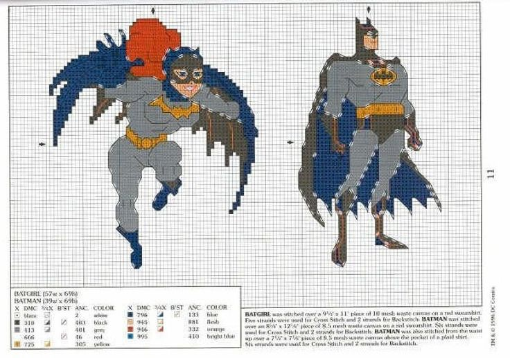 Batman, Batgirl: Embroidery