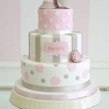 Resultado de imagen para pastel de bautizo niña