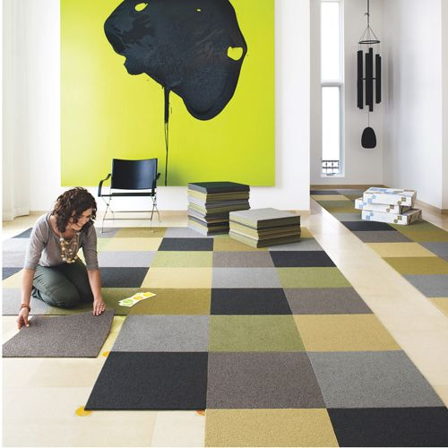 Sophisticated Checkerboard Design   Carpet Tiles