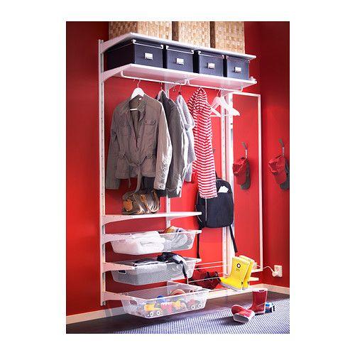 Ikea 39 S Algot Shelving Storage System Perhaps A Cheaper Alternative To Elfa Clean White