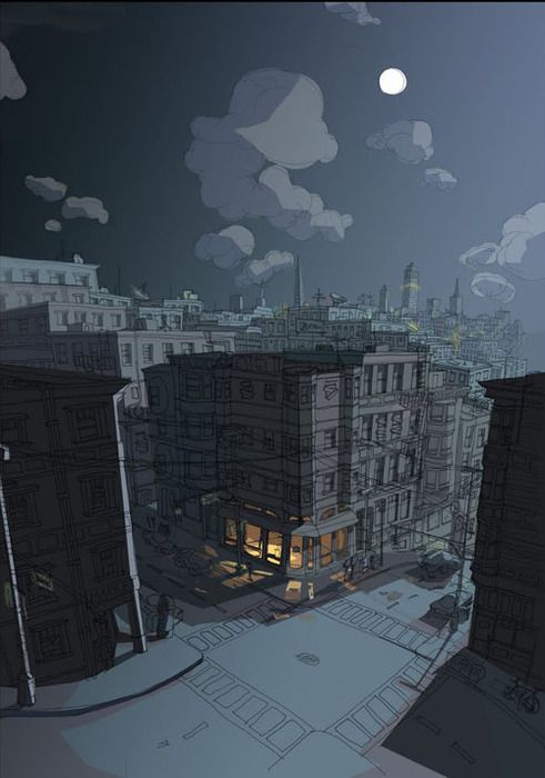Night Scene Kristina Wayte