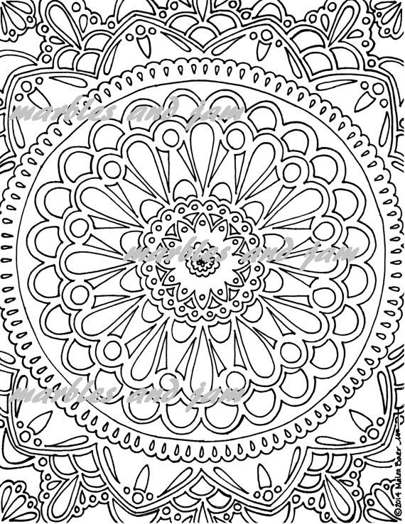 Mandala Printable Adult Coloring Sheet Mandalas