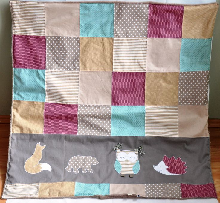 Baby blanket with forest animals