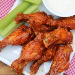 Baked Buffalo Hot Wings HealthyAperture.com