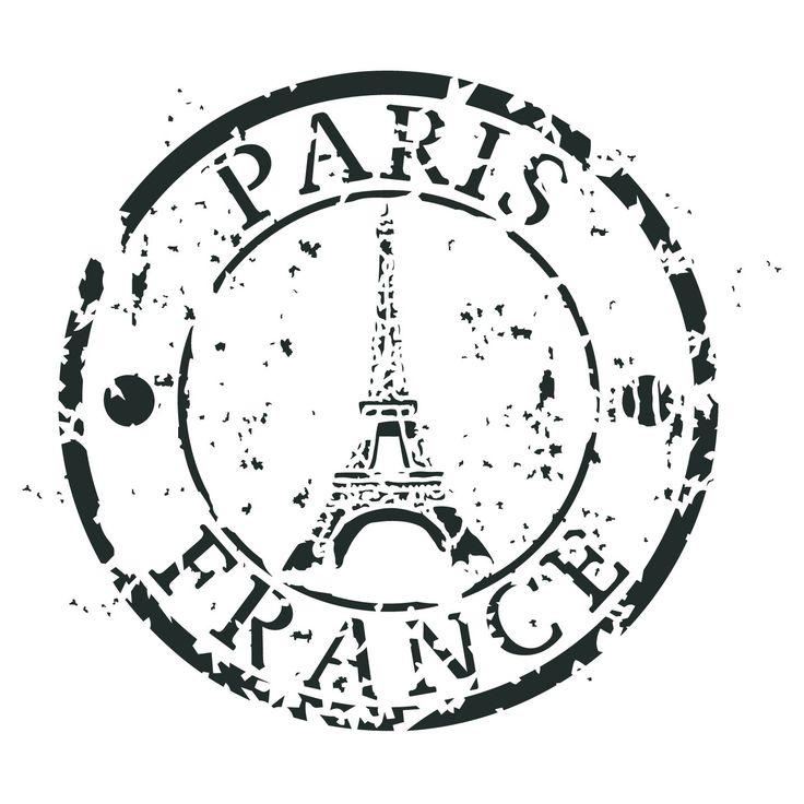 <p>Paris France Stamp<br />8″ x 8″</p>