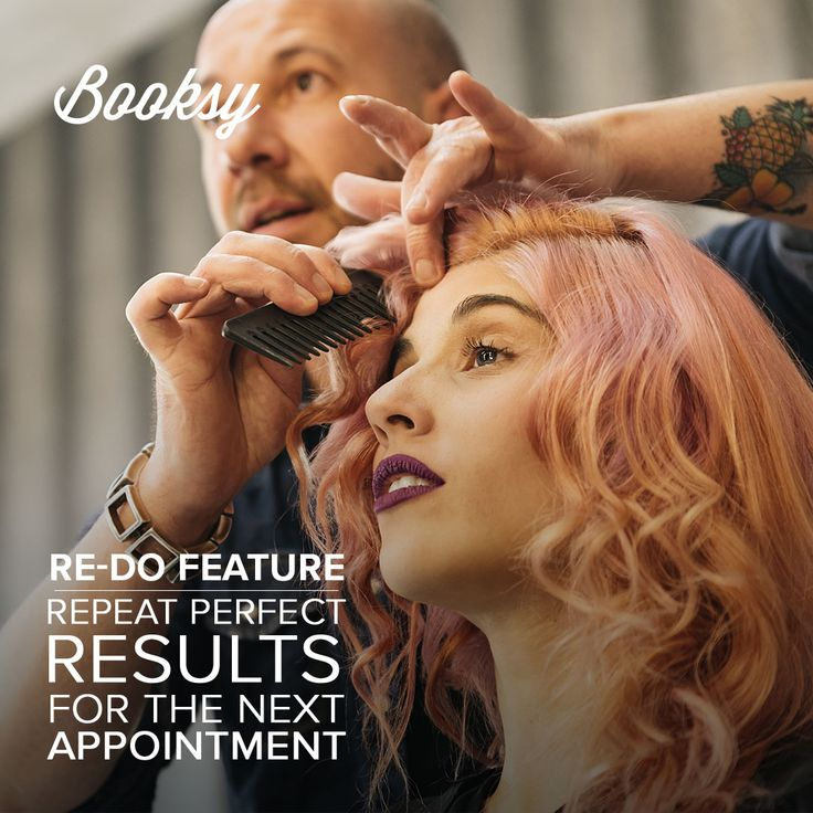 Now You can use a re-do feautre that helps You repeat the hairstyle for the next visit! Check out blue #booksyapp. Your clients gonna love our yellow #booksyapp for customers!