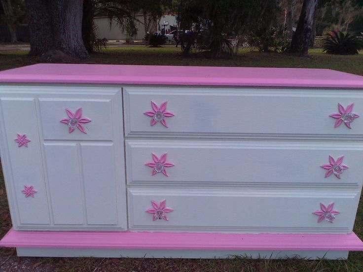 Vintage Dresser, Dresser, Girl's Dresser, Shabby Chic Dresser, Princess Dresser, Lingerie Storage, by MaggieBleus on Etsy