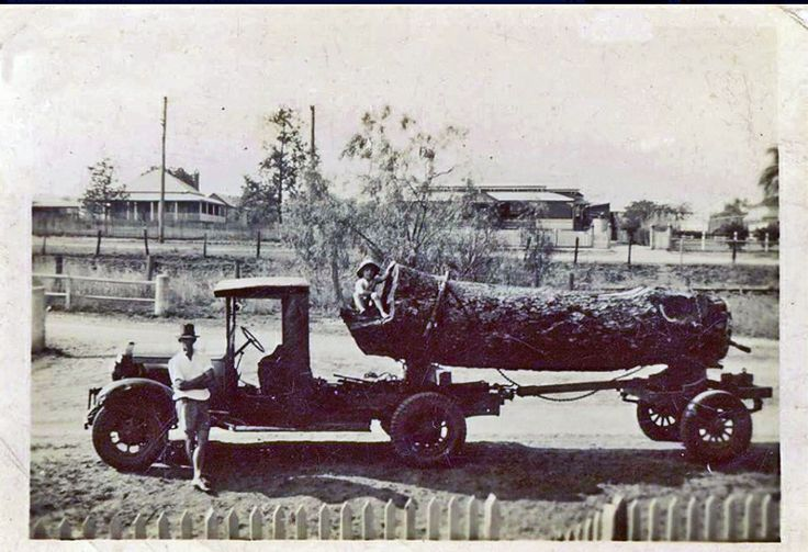 Carting Log to Muckerts Sawmill c 1950