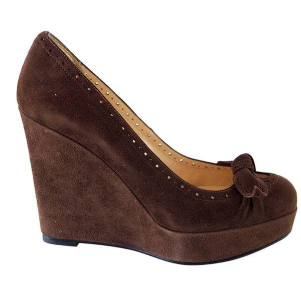 Preowned Christian Louboutin Platform Wedge Shoe 37.5 7.5 New ...