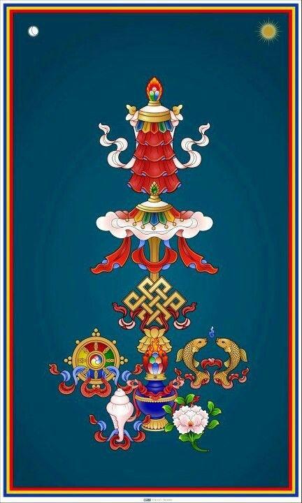 Símbolos del budismo.  Imágenes, objetos, y todo aquello que nos conecte con lo sagrado,con nuestra fe. Es ideal hacer nuestro altar y colocarlo  en la coordenada Noroeste.