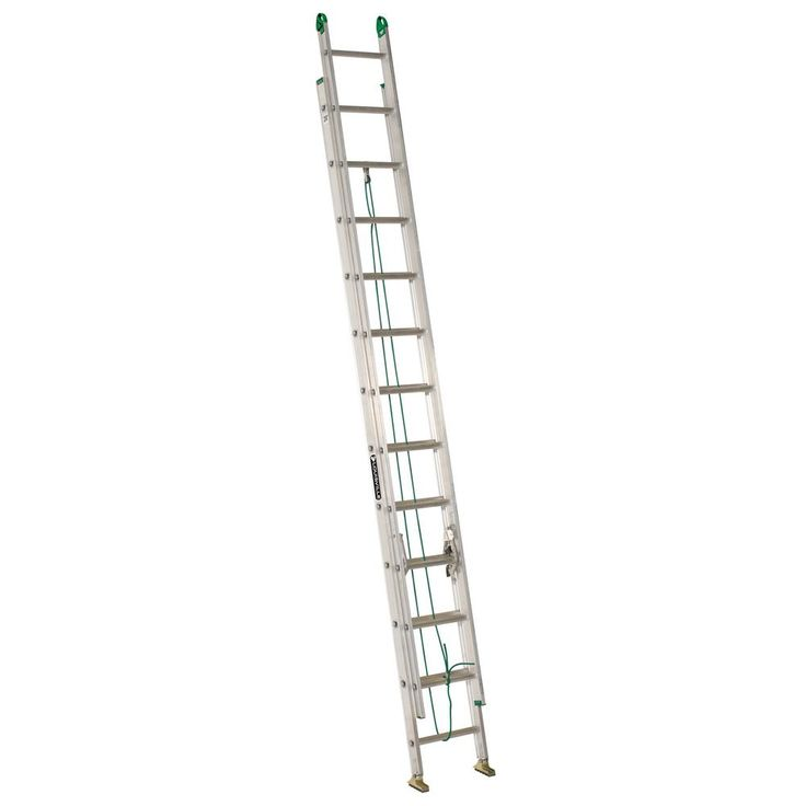 24 ft. Aluminum Extension Ladder with ProGrips, 225 lbs. Load Capacity Type II Duty Rating