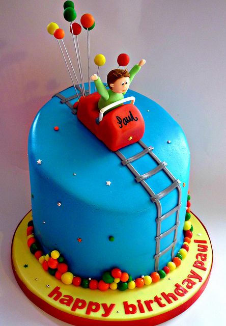 Roller coaster themed birthday cake | Flickr - Photo Sharing!