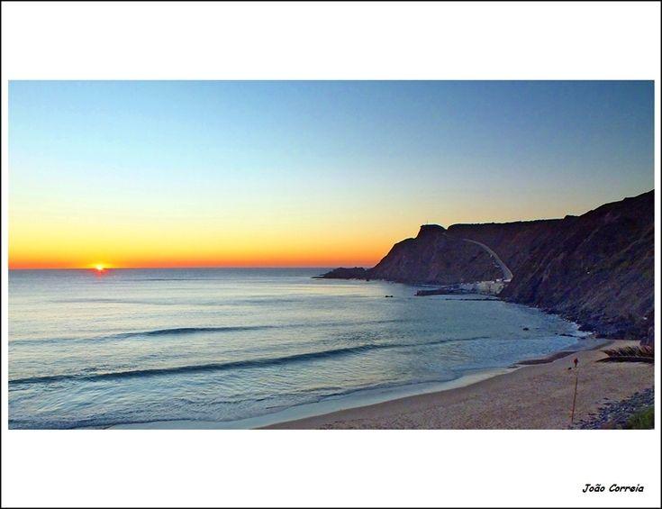 Sunset on the beach of Arrifana - Aljezur, Algarve