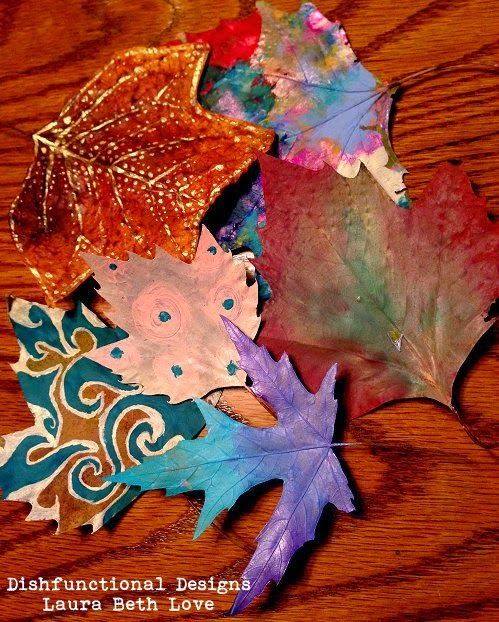 The Perfect Autumn Craft: Painting Leaves (tutorial)