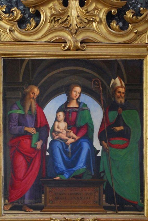 http://img-fotki.yandex.ru/get/5412/9615025.59/0_5d569_d529dcfe_XXL.jpg Самая ценная из живописных реликвий кремонских церквей - алтарь Перуджино в церкви Сан Агостино.