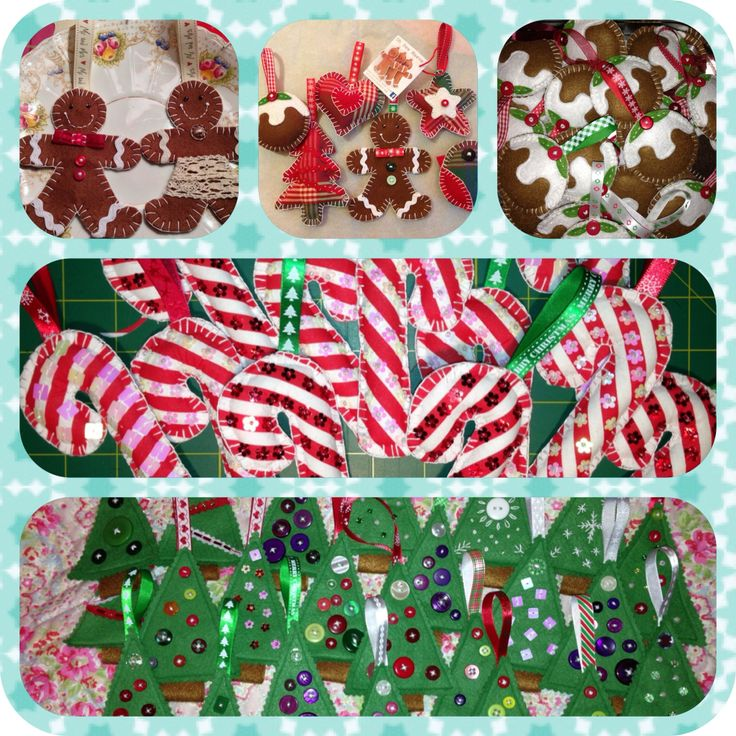 Variety of handmade christmas decorations by Oh Sew Maeve x