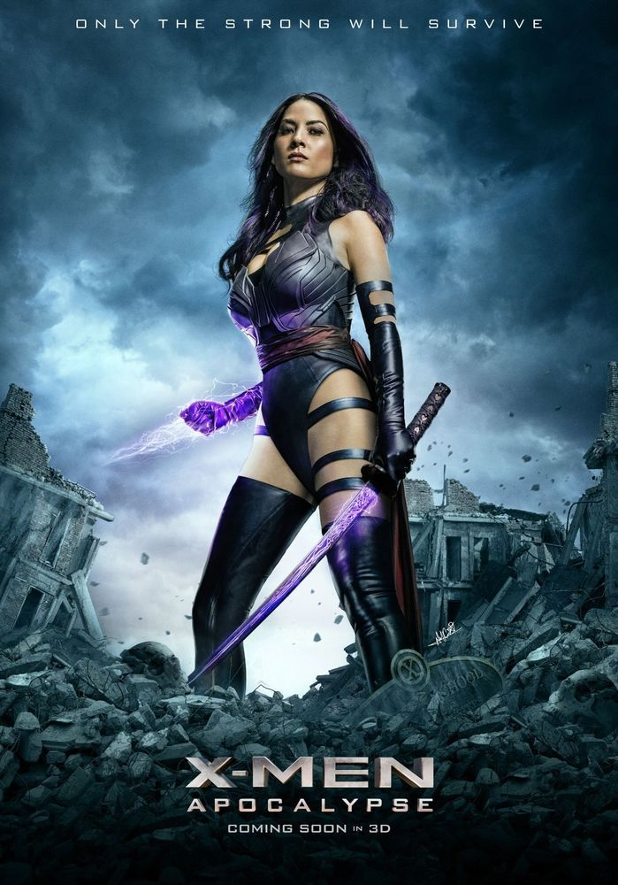 X Men Apocalypse Psylocke Movie Poster 24x36 Olivia Munn Marvel Movie Posters X Men Apocalypse Movies