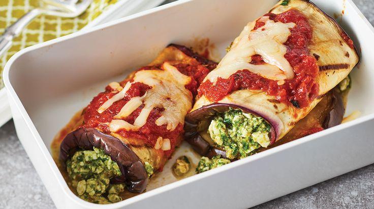 Eggplant Feta Roll-Ups