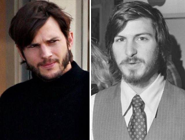 ohohoh Ashton Kutcher is really taking the role seriously! He's style is getting very close to Steve Jobs' #apple #movie