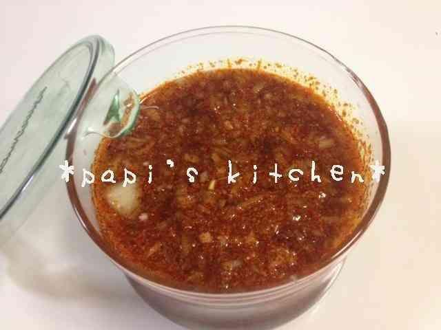 タデギを使って☆万能韓国ダレ☆    MYレシピのタデギを使った万能韓国ダレ! 混ぜるだけで簡単!保存も利くので、お料理の幅が広がりますよ☆