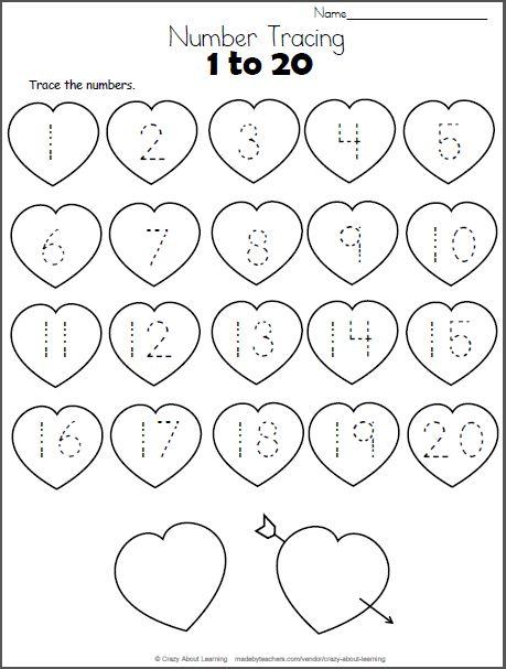 Valentine's Day' Pre-k Patterns Worksheet Printable in