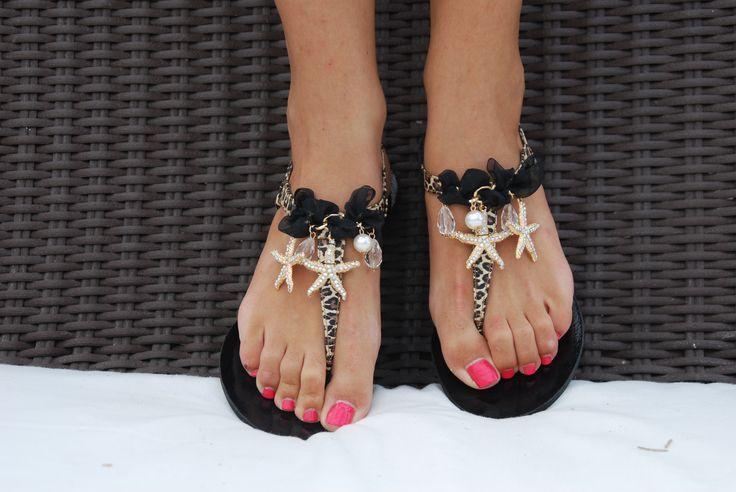 Leopard Dream Sandal! A sea star in a leopard sea! Imagine it! BonbonSandals