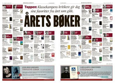 Bokmagasinet, Klassekampen. Magasindesign. Layout. Grafisk design. Redaksjonell design. Graphic design. Magazine design. Editorial design.