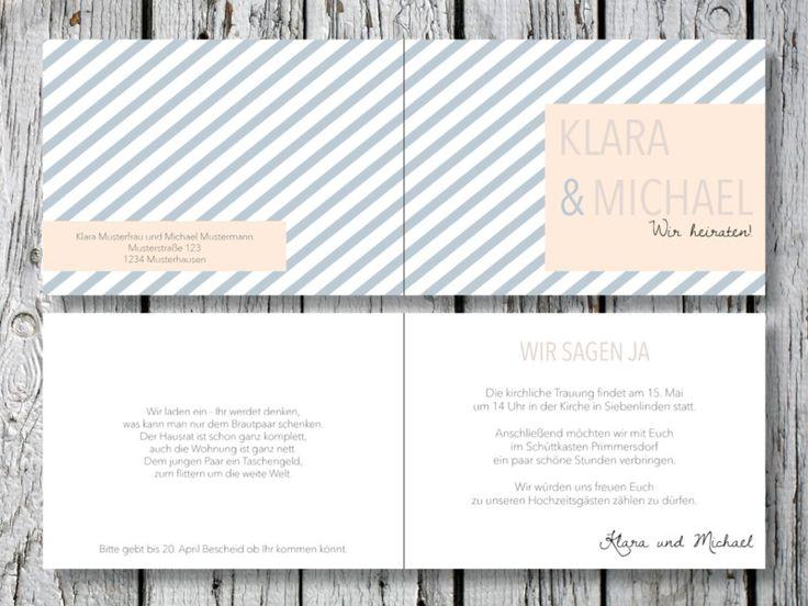 Individuelle Hochzeitseinladung | Beautiful Love von for magic moments auf DaWanda.com