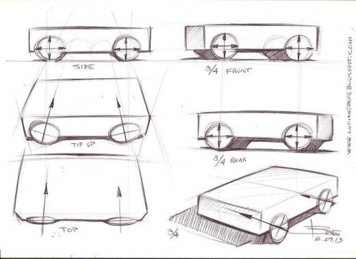 Drawing wheels in perspective. Car sketching tips. | Car Design Education tips