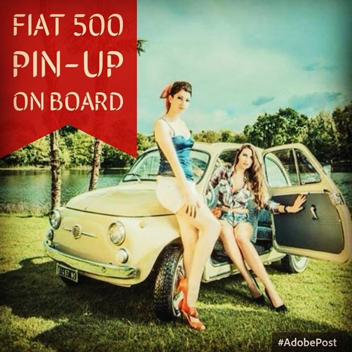 Fiat500 pin-up in board - Find more on fiat500nelmondo.it #fiat500 #fiat500nelmondo #cinquecento #pinup #vintage